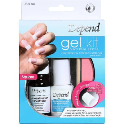 Gel Kit Natural Look, Depend Lösnaglar
