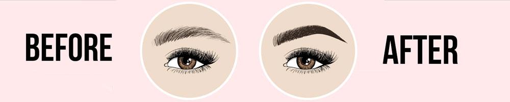 färgade ögonbryn