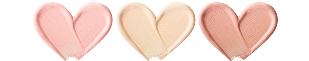 smink foundation i hjärtform