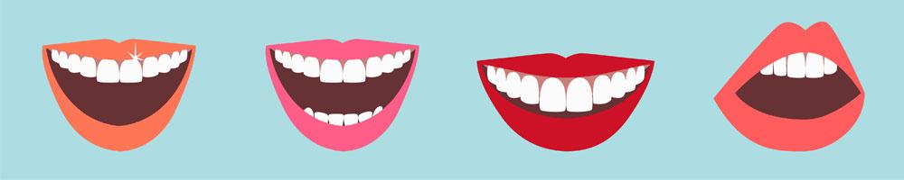 leenden med vita tänder