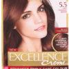 Excellence, L'Oréal Paris Permanent Hårfärg 5,5 Ljus Mahogny Brun