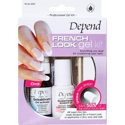 Depend French Look Gelekit Oval - 6203, Depend Lösnaglar
