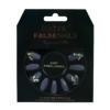 False Nails - Squareletto Grey Embellished